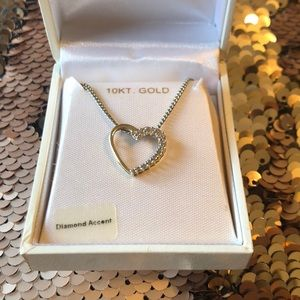 Jewelry - Heart diamond accent necklace